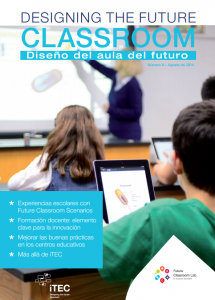 Portada de la revista número 2 de la revista DESIGNING THE FUTURE CLASSROOM (agosto de 2014)