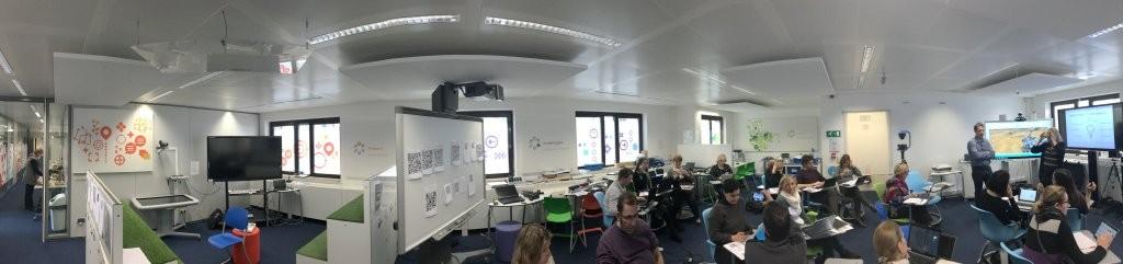 Panorámica del Future Classroom Lab de Bruselas