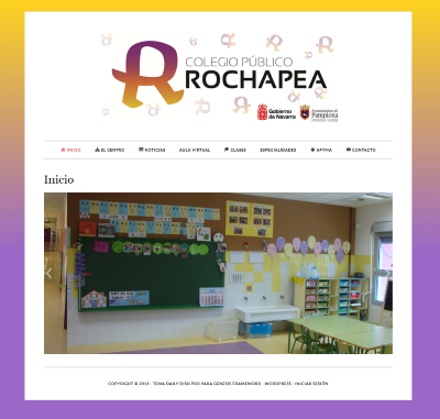 Página web del CP Rochapea