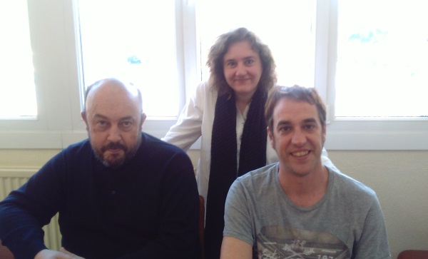 Los organizadores del proyecto Gymkana: Edurne, Asier y Koldo