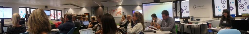 Panorámica trabajando en el aula