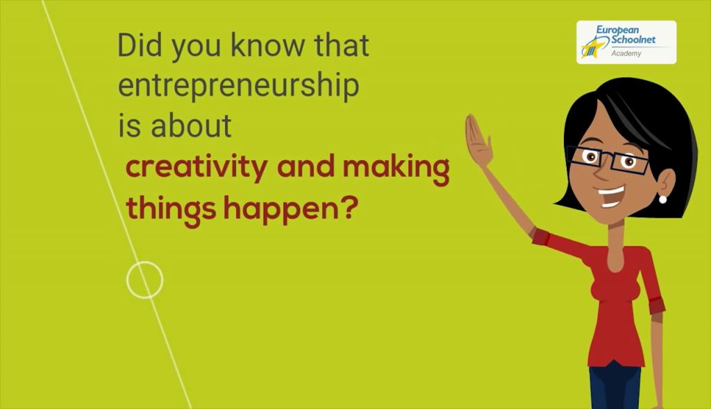 Captura del vídeo promocional del MOOC de Emprendimiento