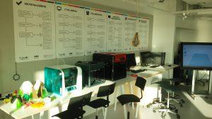 Detalle de uno de los espacios del Aula del Futuro en Copenhague