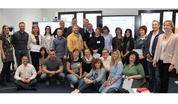 Foto de grupo durante el taller