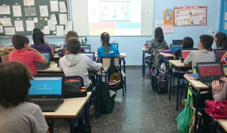 Un momento en el aula utilizando Kahoot