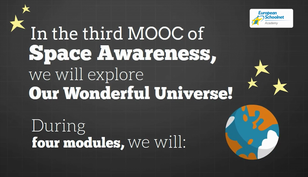 Captura del vídeo promocional del MOOC Our Wonderful Universe