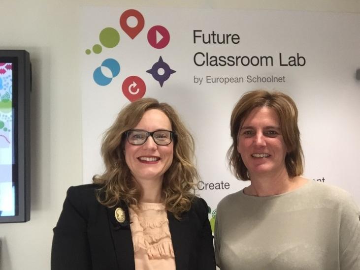 Foto de las dos participantes españolas en el taller