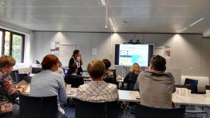 Irene Pateraki hablando de eTwinning