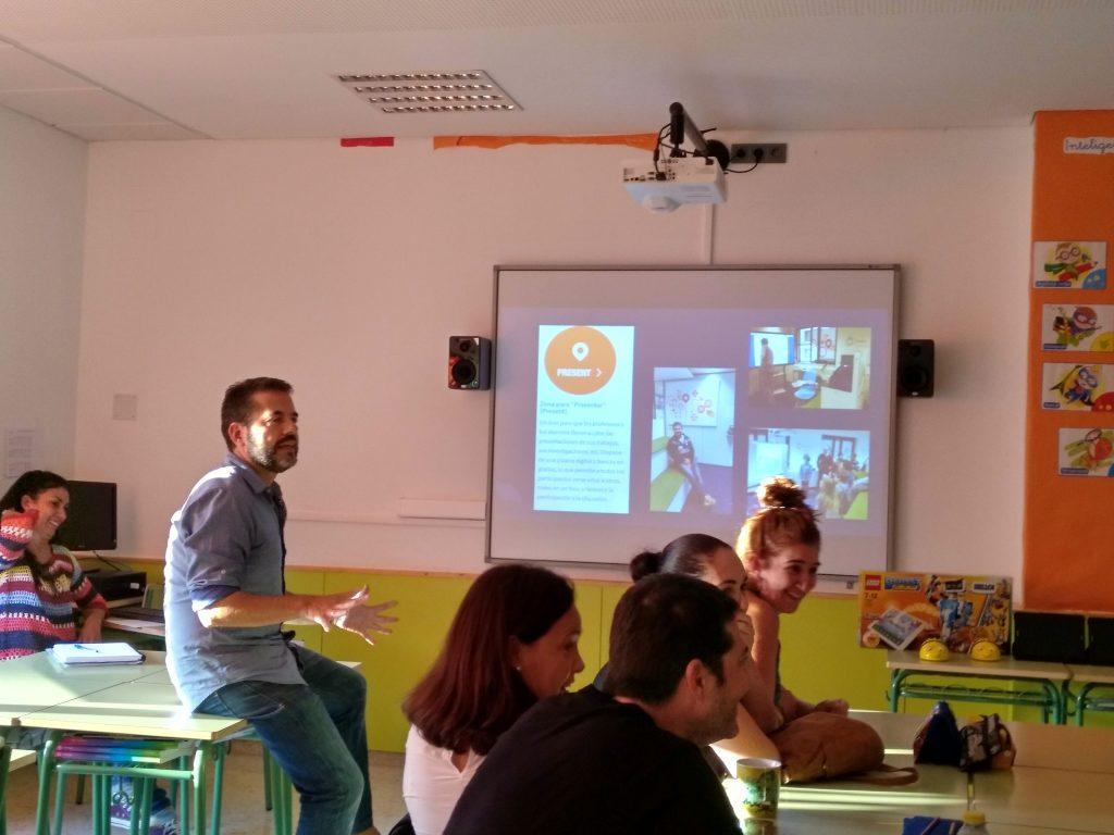 Charla sobre el taller de Bruselas en el CEIP Ciudad de Ceuta