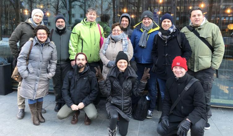 Foto de grupo de la reunión en Helsinki