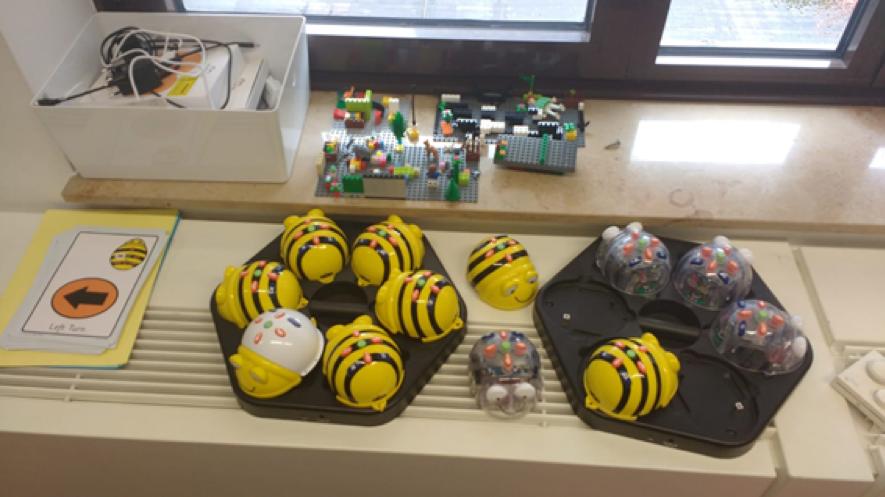 Bee-bots en el FCL de Bruselas