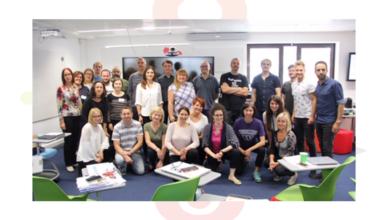 Foto de grupo de los participantes en el taller