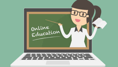 "Imagen ""Online education on laptop"" diseñada por Dooder en Freepik"