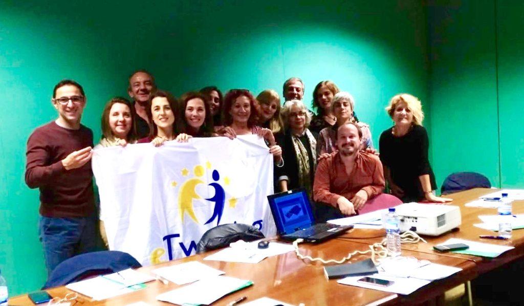 Foto de grupo: embajadores y embajadoras eTwinning en Andalucía
