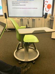 Detalle de una de las sillas que hay en el FCL